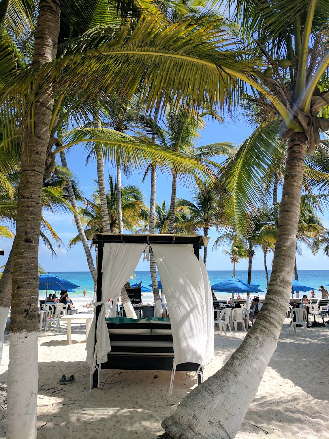 Three beach options in Tulum